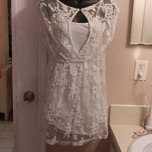 Cute white lace summer dress